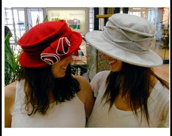"""Printed Pattern, """"High Society"""" hat pattern by Sisters' Common Thread"""