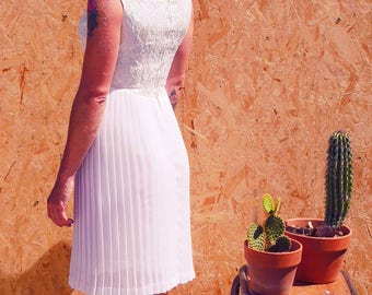 The 1950's handmade wedding dress french vintage