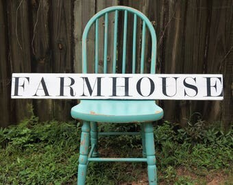 Farmhouse Rustic Wood Sign | Farmhouse Sign | Farmhouse Country Sign | Wedding Gift | Home Decor Wood Sign | Shabby Chic Sign | Custom Sign