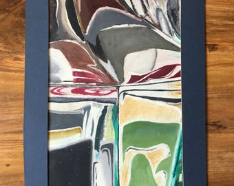 A study in glass (15.15 x 9.25 inches)