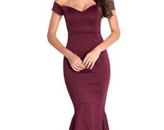 Off-Shoulder Evening Dress 50520