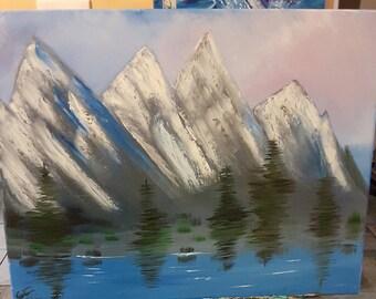 Abstract LakeSide Mountain