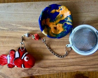 Finding Nemo Clown Fish Tea Infuser with dish