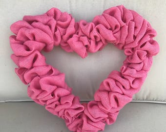 Heart Wreath, Valentine's Day Wreath, Baby Shower
