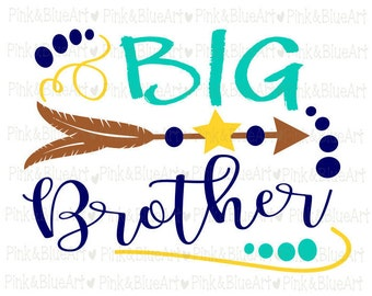 Big Brother SVG Clipart Cut Files Silhouette Cameo Svg for Cricut and Vinyl File cutting Digital cuts file DXF Png Pdf Eps