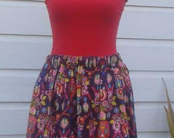 Purple Calaveras skirt
