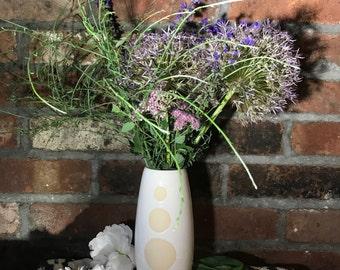 Three Polka Dots // Stoneware Vase