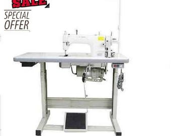 Yamata FY8700 Lockstitch Industrial Sewing Machine with Servo Motor+Juki Table.Assembly required.DIY