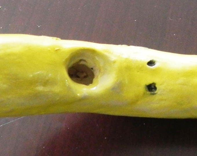 Handmade Ceramic Collective Banana Original One of a Kind Porcelain Pipe 7.5 inches by Gennaro Rango