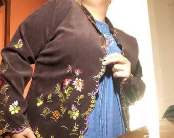 Velvet Flower Jacket XL