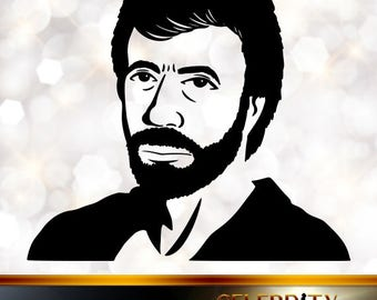 Chuck Norris Silhouette, artist silhouettes, celebrity silhouette, famous people
