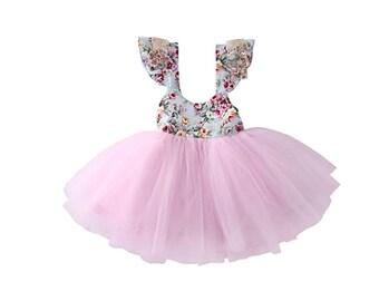 Belle Floral Tulle Dress