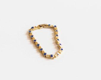 Vintage blue jewel bracelet