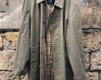 S BURBERRY 90s trench coat, size L