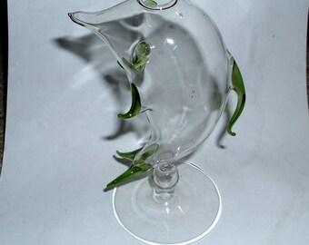 Hand Blown Delicate Thin Glass Figurine/ Vase