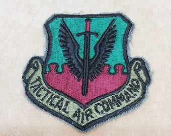 Vintage US Air Force Tactical Air Command Patch USAF Military Insignia