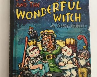Vintage Raggedy Ann and The Wonderful Witch by Johnny Gruelle 1961 Hardback Book