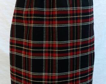 Red/Black Plaid skirt