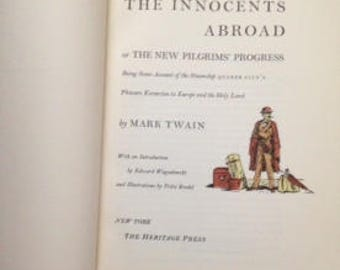 The Innocents Abroad by Mark Twain, a vintage 1962 edition, hard cover, perfect condition, 500 pages