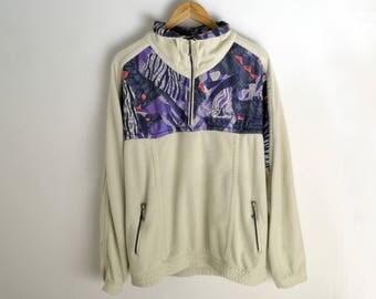 Vintage jacket men L Vintage Fleece anorak Arctic fleece by RUCanor 90s jacket Warm-up jacket Fleece sweater men Fleece windbreaker jacket L