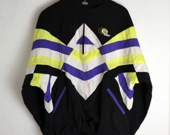 Windbreaker vintage Seller Men XL 90s windbreaker Anorak Vintage Bomber jacket Colorblocking Windbreaker Vintage jacket men large 90s jacket