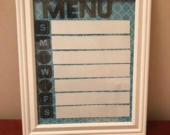 Dry Erase Menu Board 8 x 10 **housewarming gift** Birthday gift** cook** organized kitchen