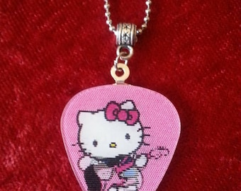 Hello Kitty magnetic removable guitar pick necklace.