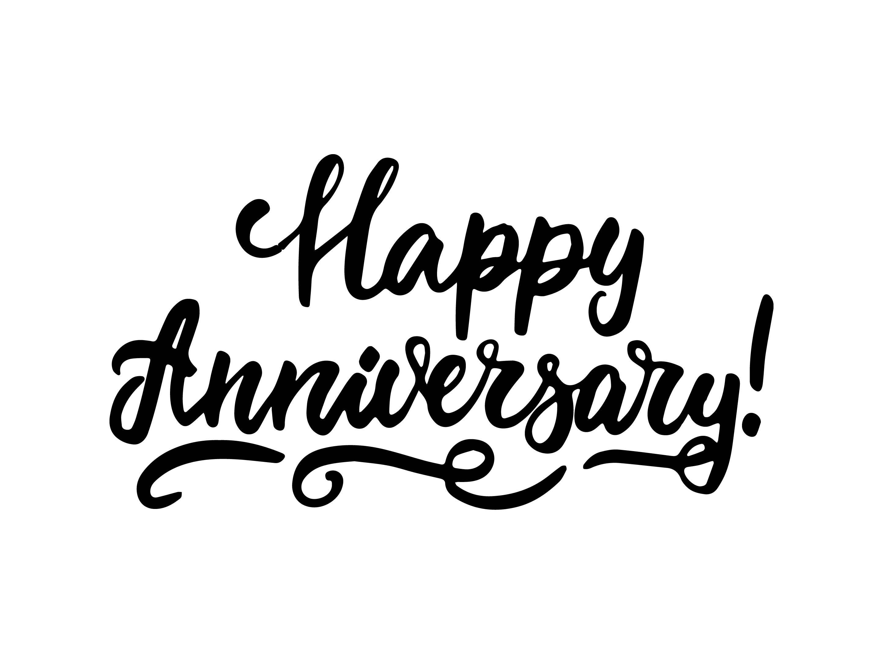 Happy Anniversary Poster Greeting Banner Text Ceremony ...