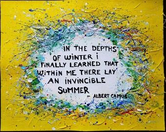 Albert Camus Quote Painting
