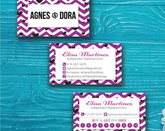 Agnes and Dora Business Card - Agnes and Dora Punch Card, Agnes Dora Business Card, Agnes Dora Marketing, Buy 10 Get 1 Free, Printable