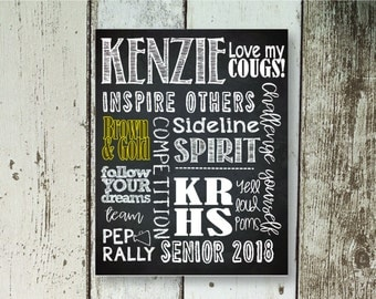 Personalized Cheerleader Poster