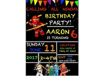 NINJAGO BIRTHDAY INVIATION