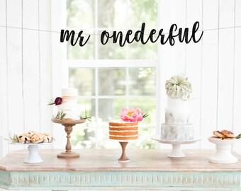Mr ONEderful Banner, Mr One Derful, First Birthday Banner, I Am One, Smash Cake Banner, 1st Birthday Decorations, Boy's First Birthday