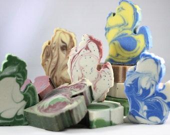 SALE Michigan Variety Pack - Michigan Shaped Artisan Soaps - 4 Full Size Bars - Made with nourishing, vegan oils