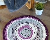 Handmade hand crochet rug...