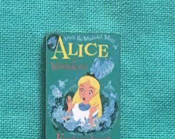 Alice in Wonderland Inspired Wooden Needle Minder