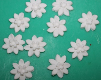 Edible spring blossom in white suit cakes, cupcakes, biscuits