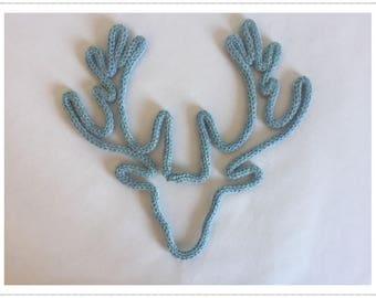 Deer head trophy yarn knitting wire decoration mural living room decor Scandinavian cozy fireplace