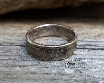 "2004 Texas ""Statehood"" Quarter Coin Ring"