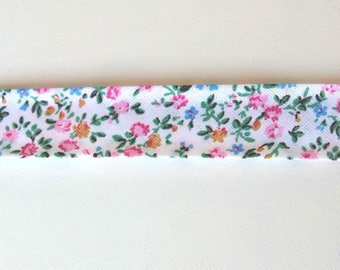 Liberty fabric with small flowers finish textile design DIY fancy braid