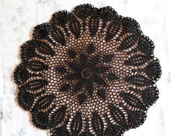 Crochet doily handmade 40 cm