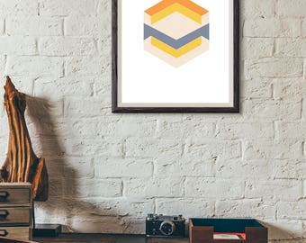 Geometric Style Art Print-Decor-Home Decor