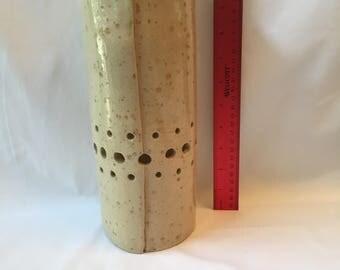 Almond Speckled Ceramic Vase