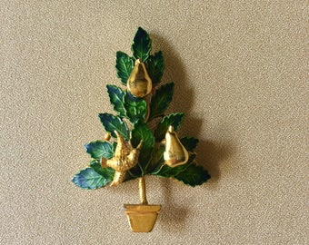 Original by Robert Partridge in a Pear Tree Ladies Christmas Brooch // Christmas Gift for Mother, Grandmother, Daughter