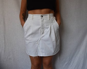"Classique Vintage High Waist Denim Cutoff Skirt Waist 28"""