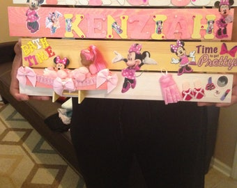 Personalized baby girl name plaque
