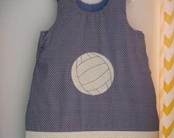 sleeping bag sleeping bag 2 nd age, 12 months, custom made themed volleyball theme of your choice to order