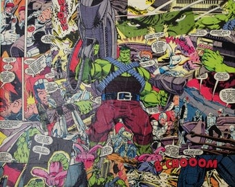 Captivating The Hulk Comic Book Covered 12x12 Ready To Hang Canvas Wall Art, The Hulk  Comic Part 28