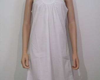 White, 100% cotton dress