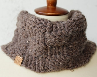knit cowl wool blend brown cowl unisex cowl brown scarf knit wool cowl hand knit scarf black owned business wool scarf knit brown scarf knit